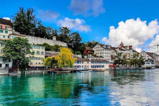 Một ngày thơ mộng bên bờ sông Limmat, Zurich