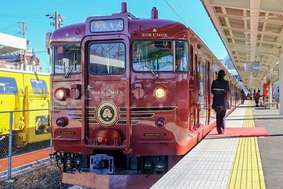Trải nghiệm thú vị trên chuyến tàu ngắm cảnh Rokumo ở Nhật Bản