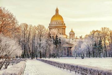 Mùa đông ở thành phố Saint Petersburg, Nga