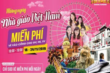 Sun World Danang Wonders tặng vé vào cửa miễn phí nhân dịp 20-11