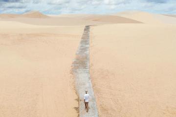 Đến Bàu Trắng, Phan Thiết – khám phá con đường đi bộ trên cát độc đáo
