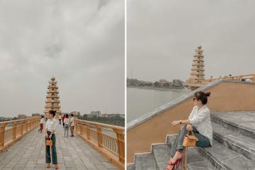 Cầu đi bộ ở Việt Trì, Phú Thọ - Điểm check-in mới của giới trẻ