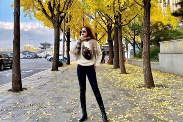 Hoa hậu Kỳ Duyên tận hưởng chuyến birthday trip cùng Minh Triệu ở Hàn Quốc