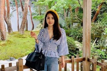 Quỳnh Nga du lịch Nhật Bản, khám phá khu vườn tuyệt đẹp