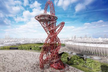 Trải nghiệm đường trượt cao nhất thế giới ẩn mình trong biểu tượng Olympic London