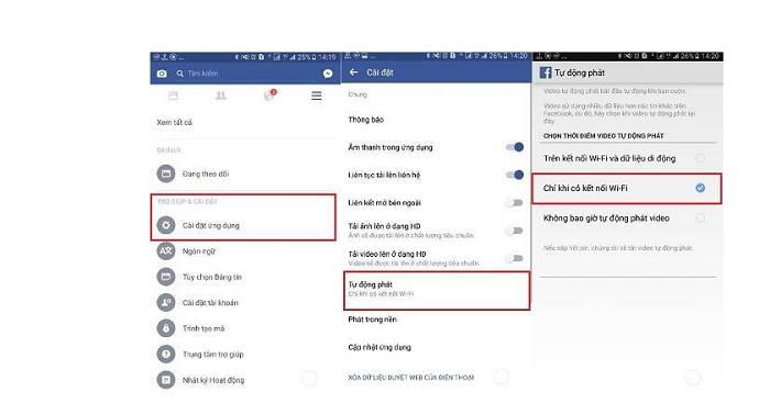 Tắt tính năng tự động phát video Facebook là cách tiết kiệm dung lượng mạng hiệu quả khi đi du lịch
