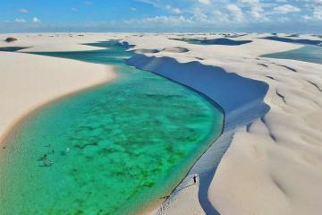Trải nghiệm tắm biển giữa sa mạc tại vườn quốc gia Lencois Maranhenses, Brazil
