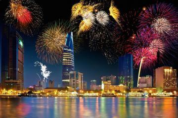 Thành phố Hồ Chí Minh bắn pháo hoa tại 3 điểm trong dịp Tết Dương lịch