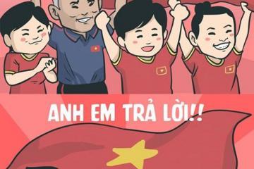 Loạt tranh vui về các cầu thủ Việt Nam sau cú đúp Huy chương vàng bóng đá tại SEA Games 30