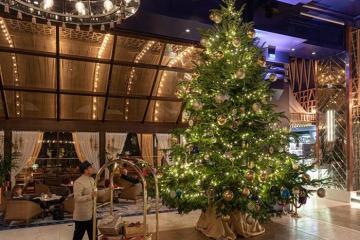 'Lóa mắt' trước cây thông Noel đắt nhất thế giới, được trang trí bằng đá quý, kim cương sang chảnh