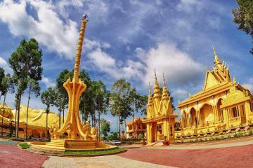 Cần gì sang Thái, ở Trà Vinh cũng có 4 ngôi chùa vàng đẹp 'điêu đứng' cho bạn check-in