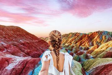 Mê mẩn vẻ đẹp siêu thực của dãy núi cầu vồng ở Trung Quốc