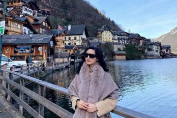 Hoa hậu Giáng My khoe nhan sắc không tuổi khi du lịch nước Áo