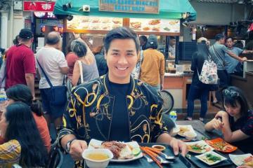 MC Nguyên Khang có chuyến food tour hoành tráng khi du lịch Singapore
