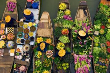 Khám phá 5 khu chợ nổi đặc trưng của miền sông nước Việt Nam