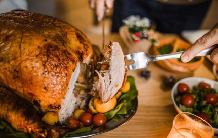 Gà tây món ăn Giáng sinh ở Mỹ ngon hấp dẫn