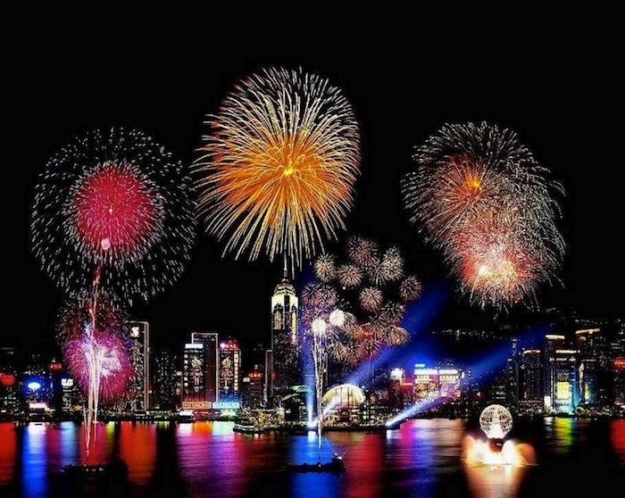 Không khí năm mới trong ngày lễ ở Hồng Kông.